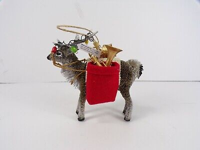 Pottery Barn Bottlebrush Elk With Gifts Christmas Holiday