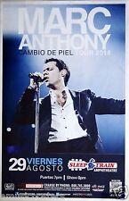 "MARC ANTHONY ""CAMBIO DE PIEL TOUR 2014"" SAN DIEGO POSTER -Latin Pop Music, Salsa"