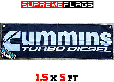 18x58 in Brand New Cummins Banner Flag Diesel Power Engine Shop Garage Red