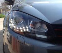 ORIGINAL DECTANE VW GOLF 6 VI LED TAGFAHRLICHT SCHEINWERFER SCHWARZ/BLACK SATZ