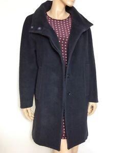 UTERQUE navy wool blend loose coat  - size S - manteau Uterqüe