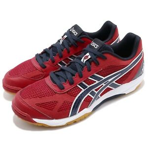 Asics-Rote-Japan-Light-Red-Peacoat-Men-Volleyball-Badminton-Shoes-TVR490-2358