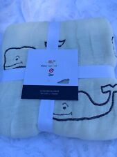 Vineyard Vines For Target Whale Jacquard Reversible Blanket IN HAND Sold Out!