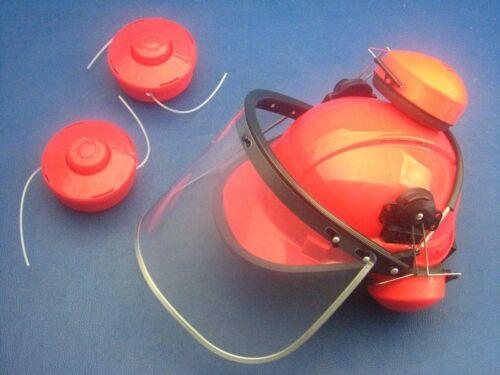 Forsthelm Schutzhelm und 2x Fadenspule für Fuxtec 4in1 Motorsense