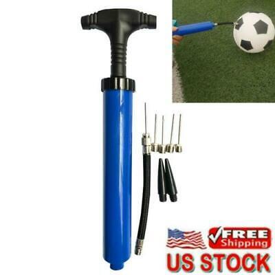 1 Ball Pump Kit Handheld Inflator Sports Balls Air Needle Basketball Soccer Set