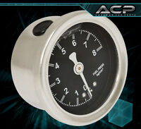 For Chevy Fuel Pressure Oil Gauge Regulator 1/8 Npt 0-8kg/cm² Liquid Fill Black on Sale