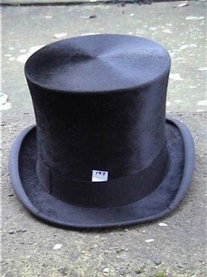 Accurato Antico. Lincoln Bennett London Nero Silk Top Hat Sz 7.-mostra Il Titolo Originale