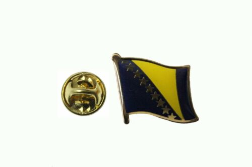 BOSNIA /& HERZEGOVINA NEW Country Flag Metal lapel PIN BADGE ..NEW
