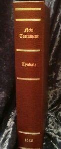1536-Tyndale-New-Testament-Facsimile-Reproduction-Bible-RARE
