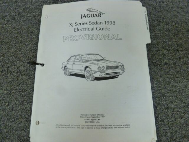 1998 Jaguar Xj Xjr Xj8 L Vanden Plas Sedan Electrical