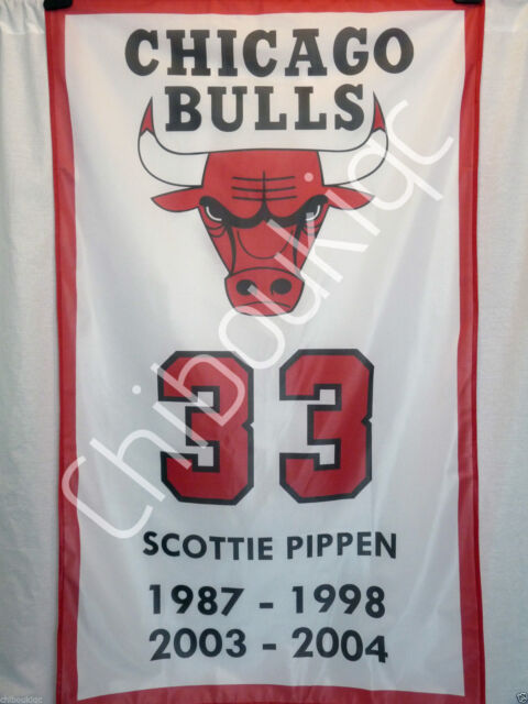 SCOTTIE PIPPEN Chicago Bulls LARGE 3x5 polyester poster banner NBA wall decor