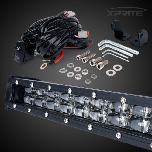 "Xprite 22/"" Double Row LED Work Light Bar Amber Backlight for Jeep ATV UTV 4WD"