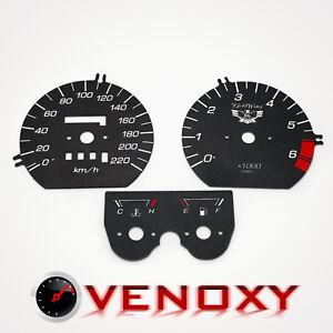 Honda X11 KM//H Aftermarket Instrument Cluster White Gauge Faces