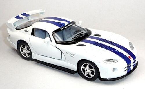 Modello di auto 1:36 DODGE VIPER GTR-S circa 12,5 cm BIANCO MERCE NUOVA di Kinsmart