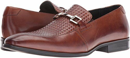 Stacy Adams Men's Forsythe Moc Toe Cognac Leather Loafers Dress shoes 25080-221