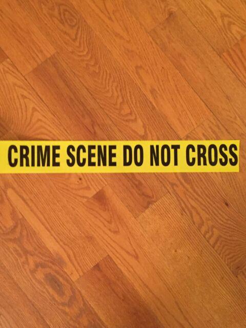 3 ROLLS SHERIFF'S LINE DO NOT CROSS TAPE 50 FEET CRIME SCENE CSI FBI POLICE