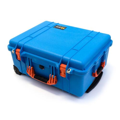 "Pelican Blue /& Orange 1560 case NO foam Pelican /""Colors/"" Series."