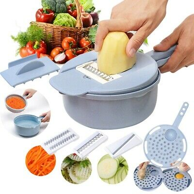9 IN 1 Multi-function Easy Food Chopper Food Vegetable Blender Chopper Slicer UK