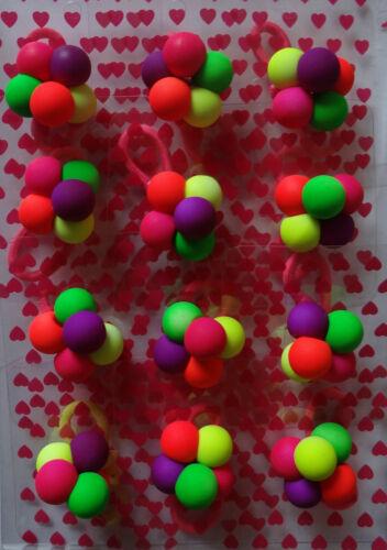 12x   Haargummi Neon Farbe Haarband Zopfgummi Zopfhalter Gummi Bunt kinder Neu