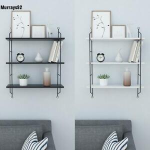 Details zu Industrial Metall/Holz Wandregal Hängeregal Ablagen Küchenregal  Badregal Regal