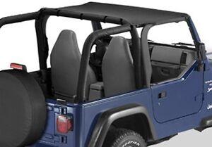 Jeep Bimini Top >> Details About 1997 2006 Jeep Wrangler Unlimited Tj Lj Bikini Bimini Top Black