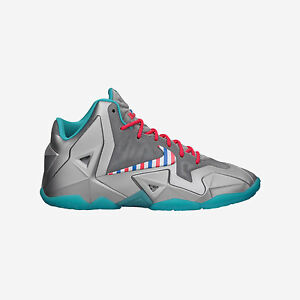 Nike Lebron XI 11 GS Barbershop Size 7Y Youth 8.5 Women s Silver ... 103f8dee2