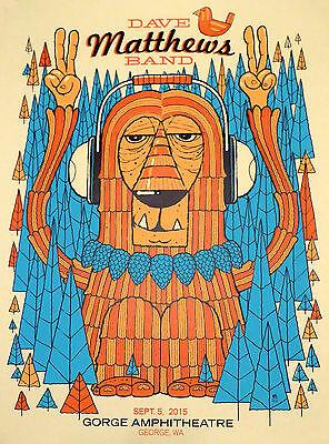 Dave Matthews Band Poster Gorge 2015 N2 Night 2 9-5-15 Rare Poster Numbered