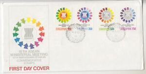 SINGAPORE-1981-ASEAN-set-of-4-illustrated-First-day-cover-with-insert
