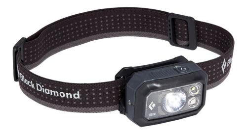 Black Diamond Storm 400 lúmenes frente lámpara casco lámpara Graphite
