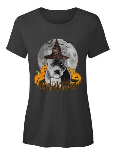 Custom Halloween Pitbull Standard T-Shirt Femme Standard T-shirt femme