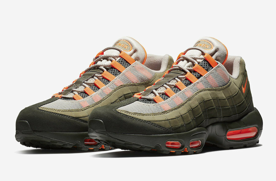 NIKE AIRMAX 95 OG AT2865-200 String Total orange Neutral Olive Men's Sneaker NEW