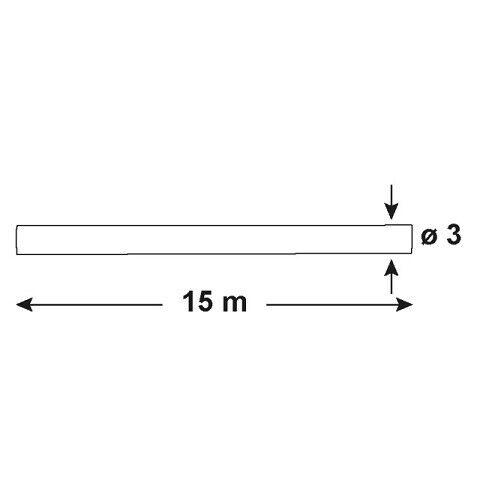 Kabeleinziehhilfe 15m mit Führungsfeder Suchfeder 2mm Einziehband Zugdraht CON:P