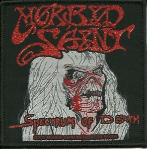MORBID-SAINT-SPECTRUM-OF-DEATH-WOVEN-PATCH-RED-GLITTER-THREAD-classic