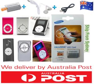 Details about Mini MP3 Player Supports 8GB16GB 32GB Micro SD Card Clip +  SAMSUNG EVO 32GB Card