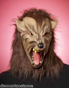 WORLD LATEX DARK DELUXE FULL COSTUME OVERHEAD ACCESSORY MASK WEREWOLF HALLOWEEN qBExtwtv
