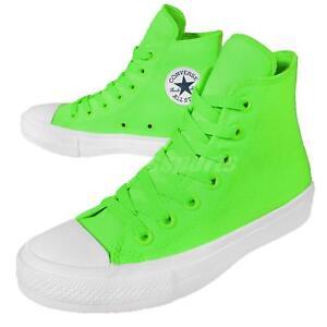 07e02e286b7b Converse Chuck Taylor All Star II 2 Lunarlon Neon Green Plimsolls ...