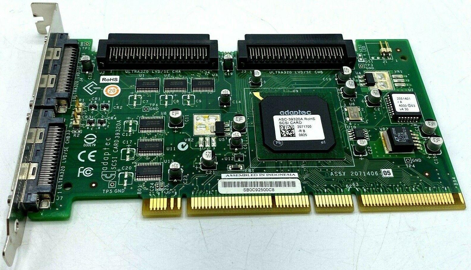 DELL ADAPTEC 39320A SCSI CONTROLLER CARD Computers & Accessories ...