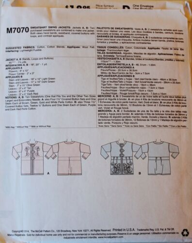 PLUS SIZE~ COAT JACKET WRAP Sew Pattern ~ UC U PICK