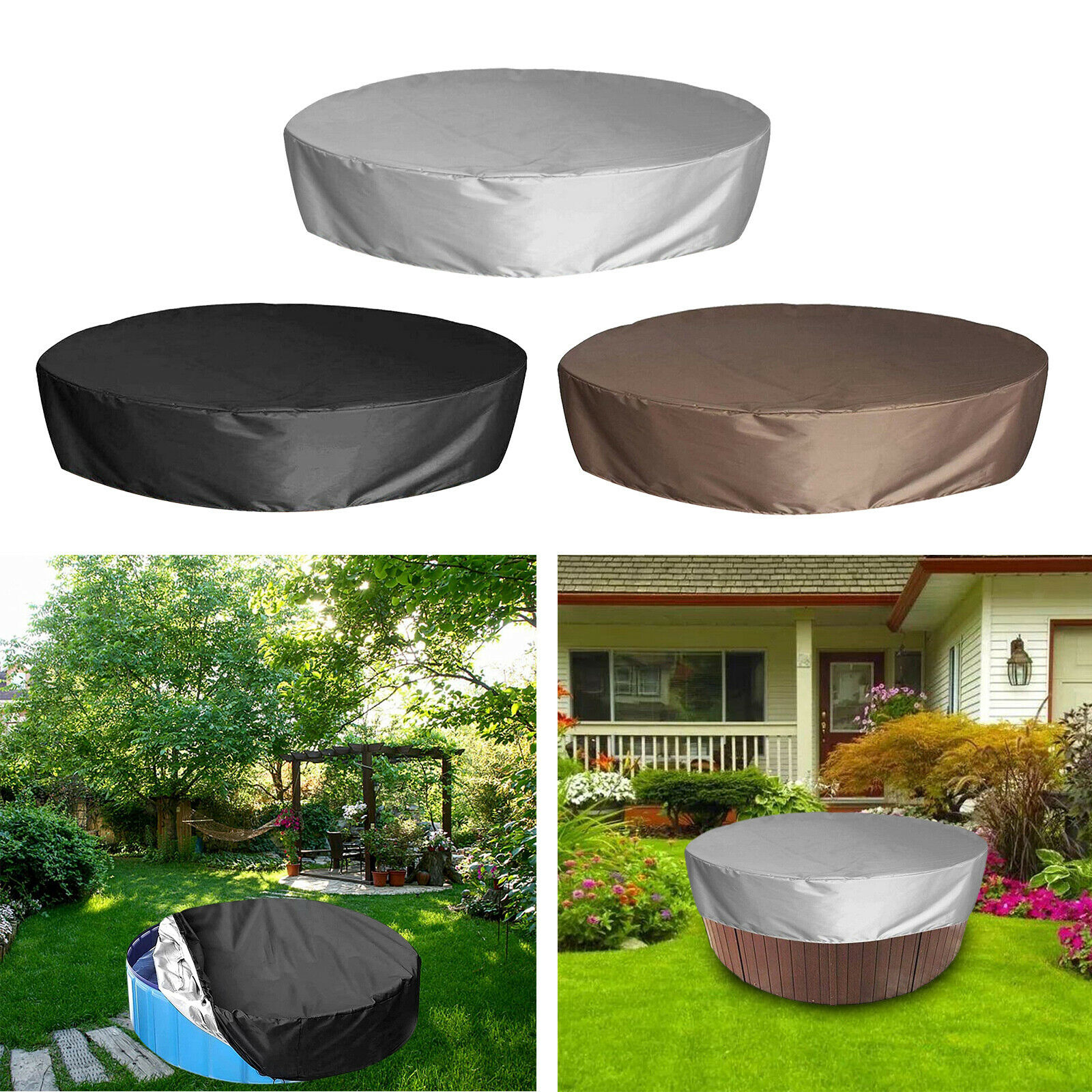 Pool Cover UV Protection SPA Hot Tub Above Ground Pool 190T Oxford Cloth