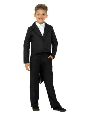 Childs Kids Fancy Dress Tailcoat Black Childrens Book Day Tail Coat by Smiffys