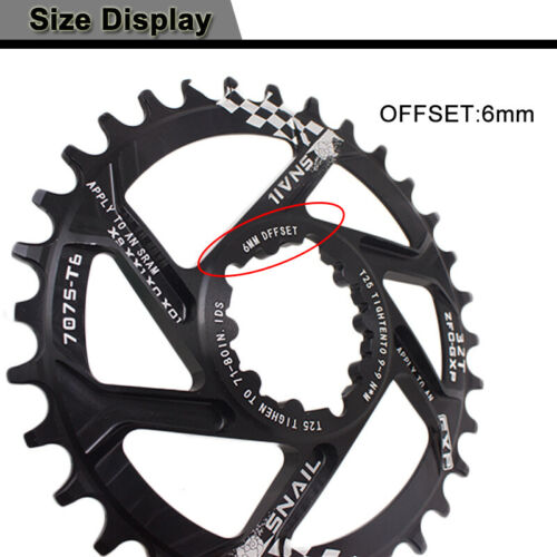 JESSICA GXP Crank 30-34T Offset 6mm MTB Bicycle Chainring Narrow Wide Chainwheel