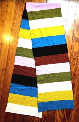 Gorman Wool Scarf Striped Long EUC