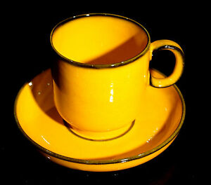 Beautiful-Vintage-Thomas-of-Germany-Scandic-Yellow-Cup-And-Saucer