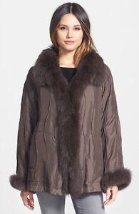13db2bf87ea Image is loading George-Simonton-Couture-Reversible-Silk-amp-Genuine-Fox-