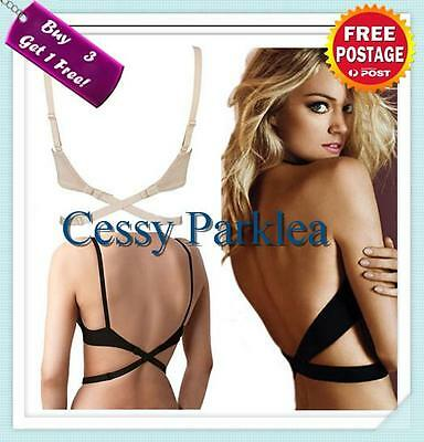 2X Wow Low Back Backless Bra Strap Converter Adapter Adjustable Extender TS