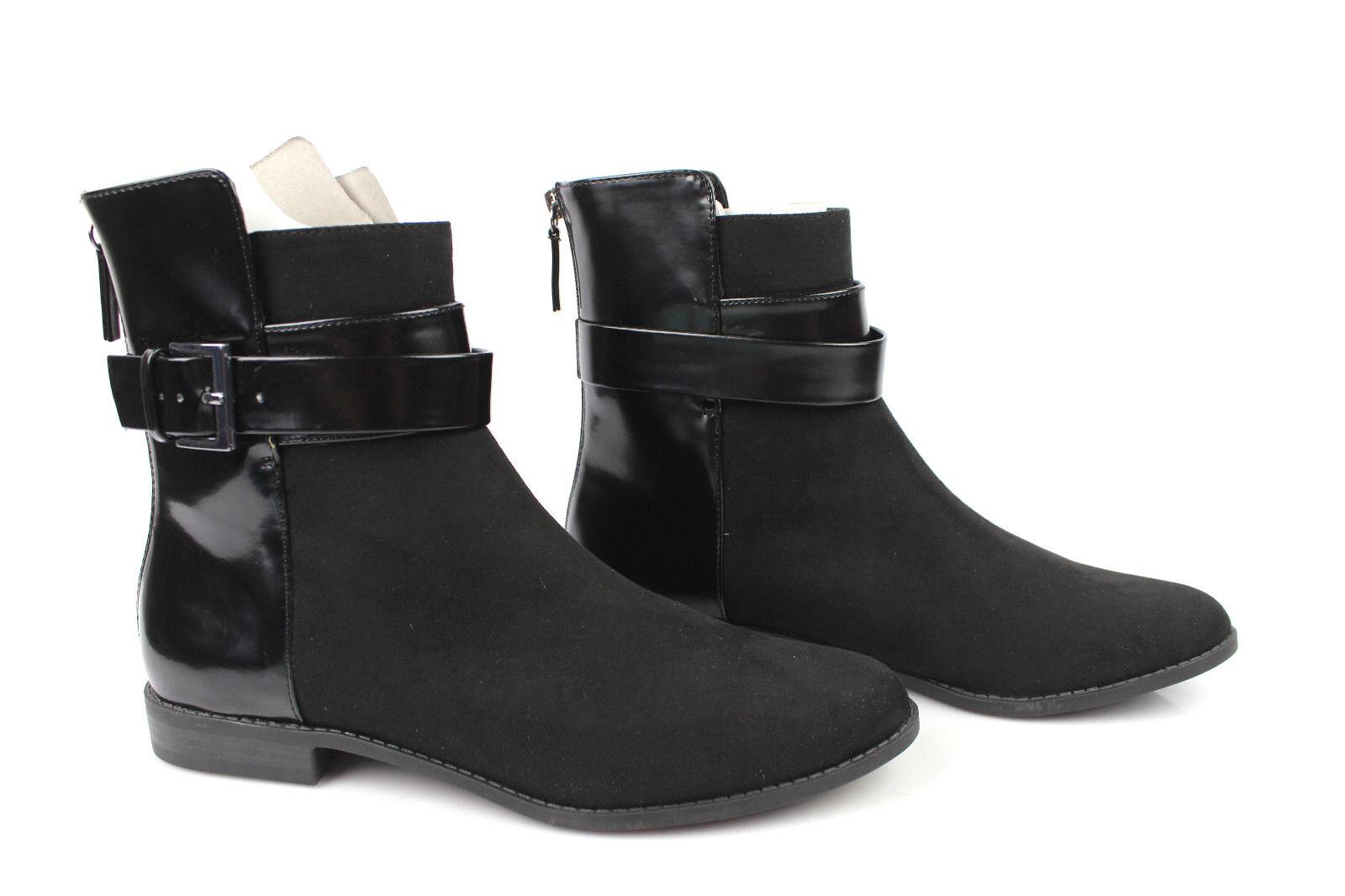 Bottines Boots Cavalières ZARA TRAFALUC black T 42 ETAT NEUF