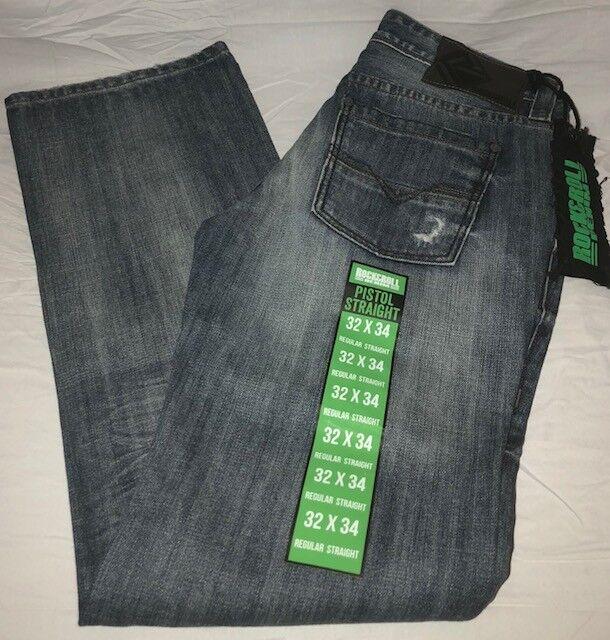 Rock /& Roll Men/'s Embroidered Pistol Straight Leg Jeans M1P4431 SALE