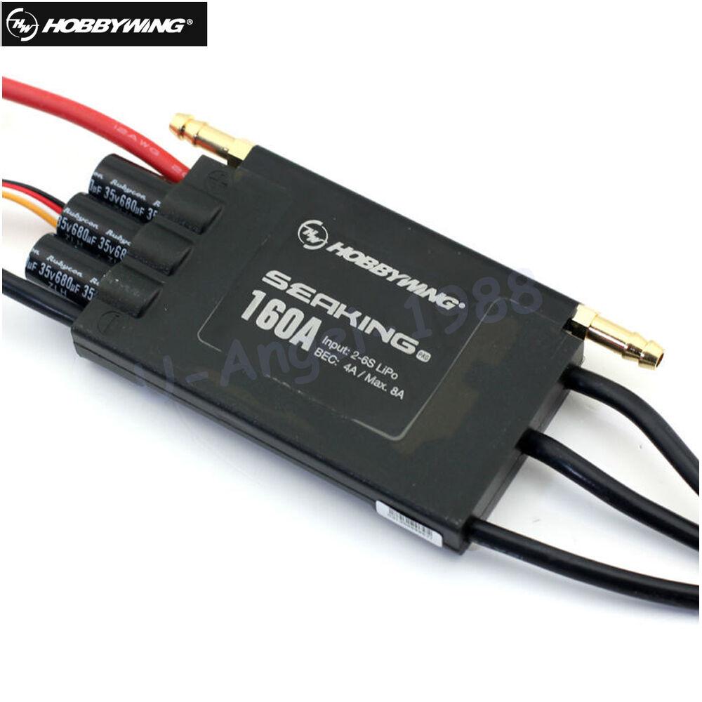 Hobbywing Seaking Pro botasregler 160A circuito eliminador de batería 4A 2-6s Bruce Lee Motor ESC HV circuito eliminador de batería Barcos de radio control