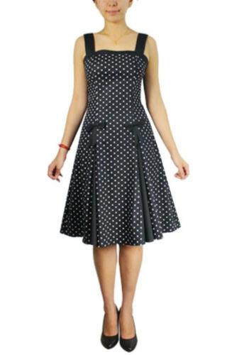 Plus Size Black and Polka Dot Pin Up Retro 50/'s Summer Dress 1X 2X 3X 4X