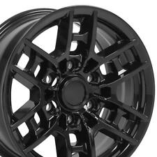 16 Gloss Black Wheels Set Fit Tacoma 4runner Toyota Trd Pro Rims Fits 2004 Toyota Tundra